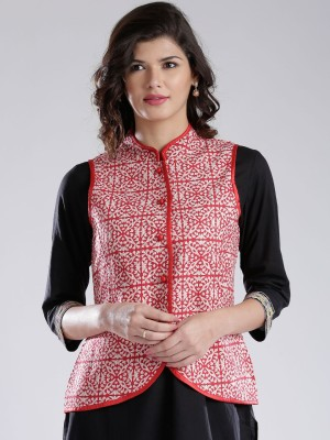 Anouk Sleeveless Printed Women's Jacket