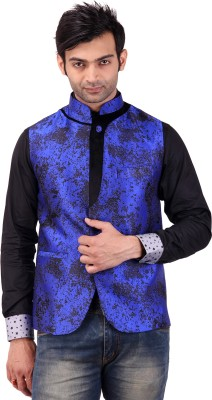 Apex Tailor Sleeveless Printed Men's Nehru Jacket Jacket
