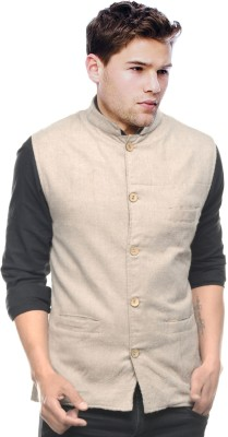 Sobre Estilo Sleeveless Solid Men's Nehru Jacket