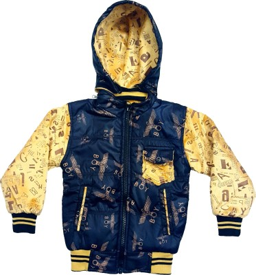 Groverz Full Sleeve Self Design Boy's Jacket