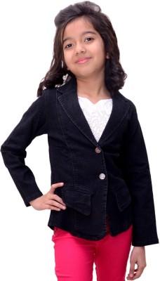 Titrit Full Sleeve Solid Girl,s Denim Jacket