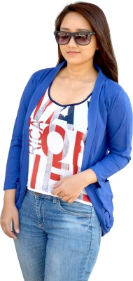 Aarti Collections Full Sleeve Solid Women,s Jacket