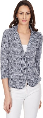 Color Cocktail 3/4 Sleeve Printed Women's Jacket