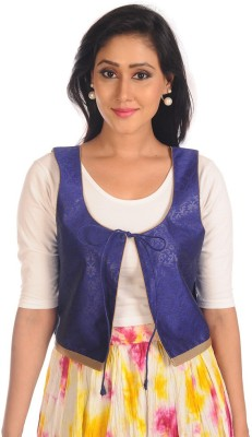 Salwar Studio Sleeveless Embroidered Women's Ethnic Jacket