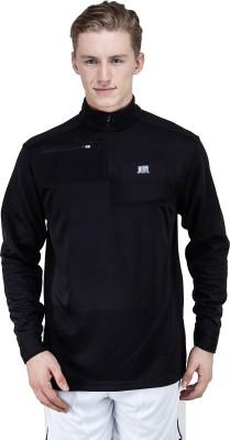 T10 Sports Full Sleeve Self Design Men's Waffle Binded Jacket