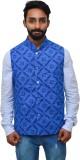 Rasm Sleeveless Self Design Men's Jacket
