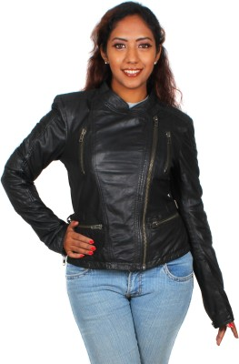 Marson Leather Full Sleeve Solid Women's Jacket