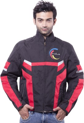 Indus Full Sleeve Solid Mens Biker Jacket