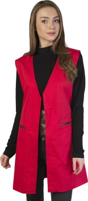 Bonhomie Sleeveless Self Design Women's Jacket