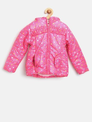 Yk Full Sleeve Printed Baby Girl's Jacket
