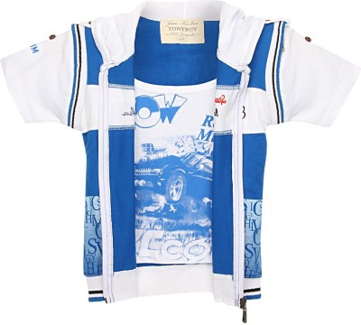 TonyBoy Half Sleeve Printed Baby Boys Jacket