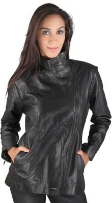 Pranjali Full Sleeve Solid Women's Leather Jacket Jacket
