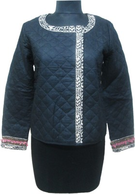 I Am For You Full Sleeve Solid Women,s Quilted Jacket
