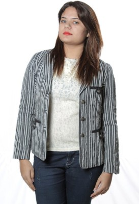 Shopaholic Fashion Full Sleeve Striped Women's Jacket