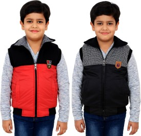 Sunday Casual Sleeveless Solid Boy's Jacket