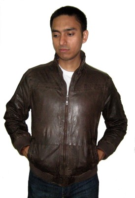 Loveleather Full Sleeve Solid Men's Mandarin Jacket