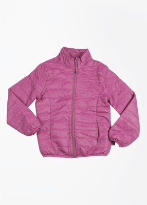 United Colors of Benetton Full Sleeve Solid Girl's Quilted Jacket