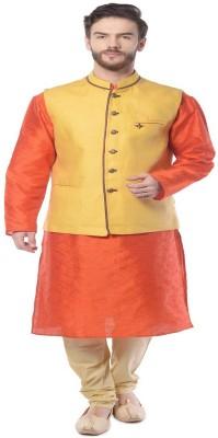 Mohanlal Sons Half Sleeve Solid Men's Linen Jacket