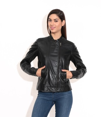 Theo&Ash Full Sleeve Solid Women's Biker Jacket