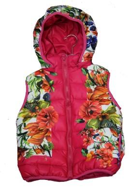 Habooz Sleeveless Floral Print Girl's Jacket