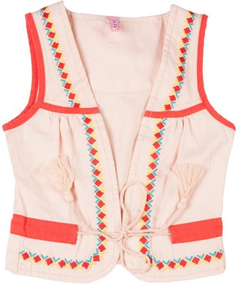 Tickles By Inmark Sleeveless Embroidered Boy's Denim Jacket