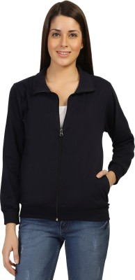 Threadz Full Sleeve Solid Women's Jacket
