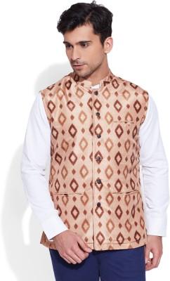 Very Me Sleeveless Geometric Print Men's Jacket