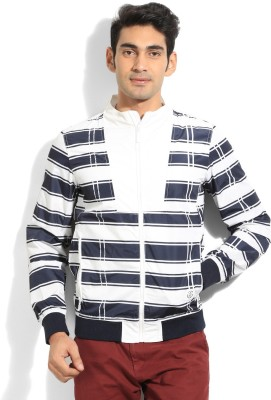 United Colors of Benetton Full Sleeve Printed Mens Casual Jacket Jacket