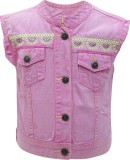 UFO Sleeveless Embroidered Girls Solid W...