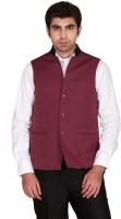 GIVO Sleeveless Solid Mens Nehru Linen Jacket