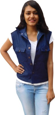 Oshin Sleeveless Solid Women's Denim Jacket
