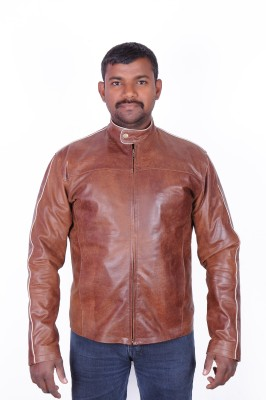 WOOD N LEATHER IN DESIGN Full Sleeve Solid Mens Jacket
