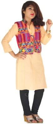 Garg Fashion Sleeveless Embroidered Women,s Jacket
