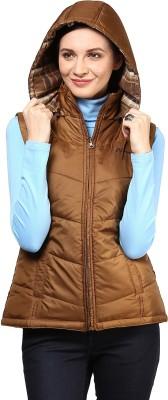 Okane Sleeveless Solid Women,s Jacket