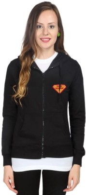 Campus Sutra Full Sleeve Solid Womens Fleece Jacket