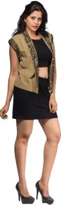 Aaliya Sleeveless Solid Women's Gilet Jacket