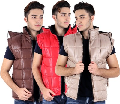 Kritika's World Sleeveless Solid Men's Quilted Jacket
