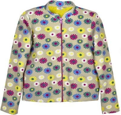 Caca Cina Full Sleeve Printed Girl's Jacket