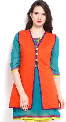 Anouk Rustic Sleeveless Printed Women,s Jacket