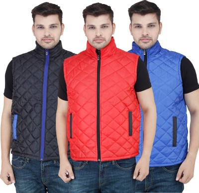 Stylox Sleeveless Solid Men,s Jacket Jacket