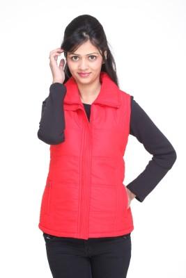 Trufit Sleeveless Solid Women,s Bomber Jacket