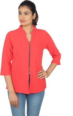 Square 3/4 Sleeve Solid Women's Jacket