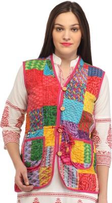 Roshi Sleeveless Printed Women's Jacket Jacket