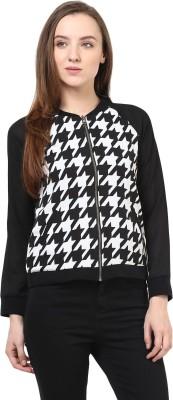 Rare Full Sleeve Geometric Print Women's Jacket
