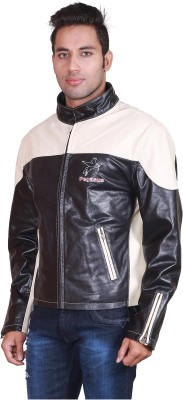 Pegasus Full Sleeve Solid Men's Leather Jacket