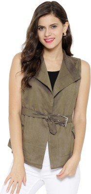 Sassafras Sleeveless Solid Women's Jacket at flipkart