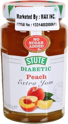 Stute Diabetic Peach 430 g Spread(Pack of 1)