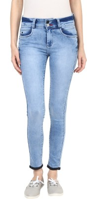 GOFAB Skinny Fit Women's Light Blue Jeans