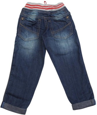 KARROT by Shoppers Stop Regular Fit Baby Boy's Dark Blue Jeans