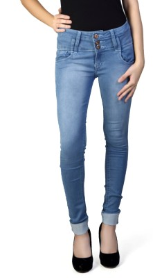 F Fashion Stylus Slim Fit Women,s Blue Jeans